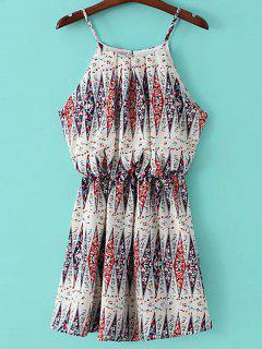 Printed Mini Camisole Dress - Off-white S