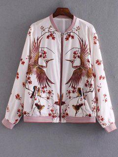 Bird Print Pilot Jacket - S