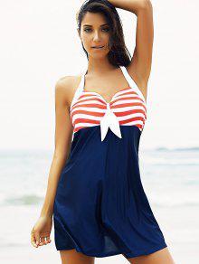 6ddfd5da74c 24% OFF] 2019 Halter Convertible Sailor Retro Swimdress Bathing Suit ...