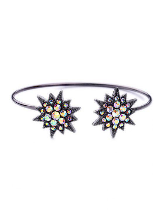 Strass Étoile Bracelet - Noir