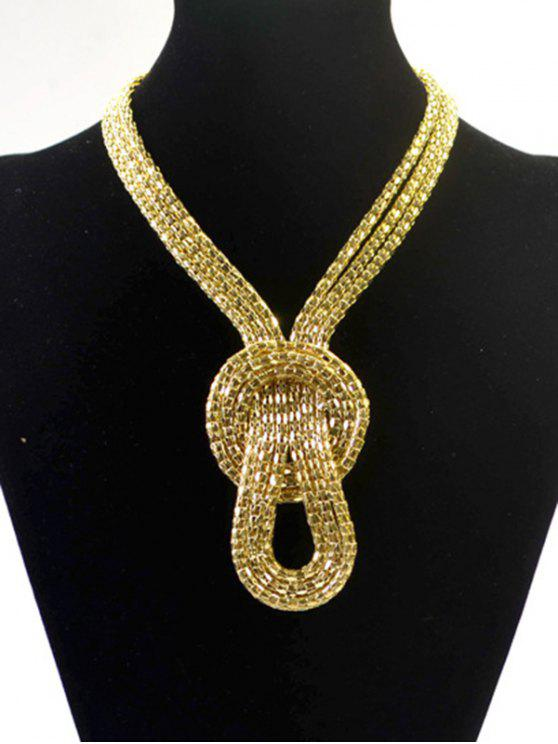 lady Knotted Snake Necklace - GOLDEN