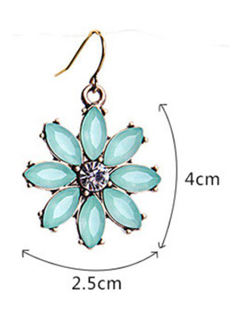 unique Tiny Floral Pendant Earrings - MINT GREEN  Mobile