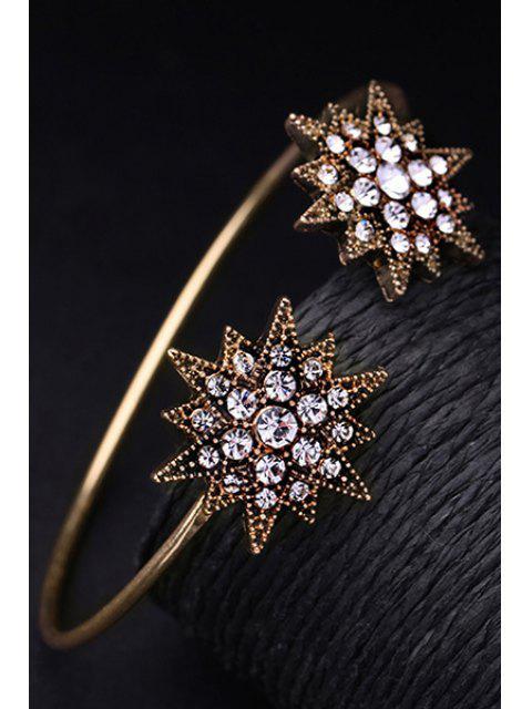 outfits Rhinestone Star Cuff Bracelet - GOLDEN  Mobile
