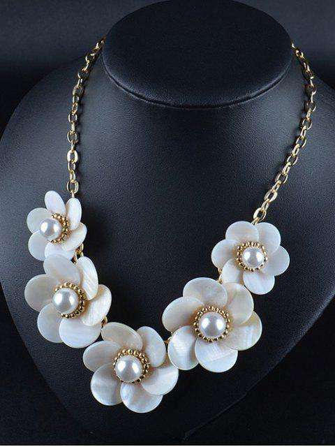 latest Faux Pearl Flower Necklace -   Mobile