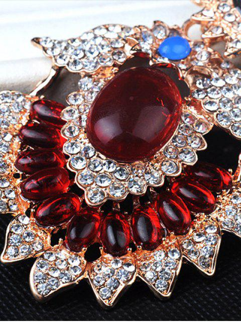 sale Flower Jewelry Necklace - RED  Mobile