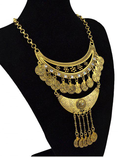 online Round Pendant Ethnic Necklace -   Mobile