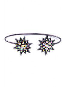 Pulsera De Diamantes De Imitación De La Estrella Cuff - Negro