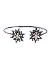 Rhinestone Star Cuff Bracelet - Black