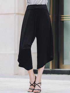 Black Loose Fitting Harem Pants - Black Xl