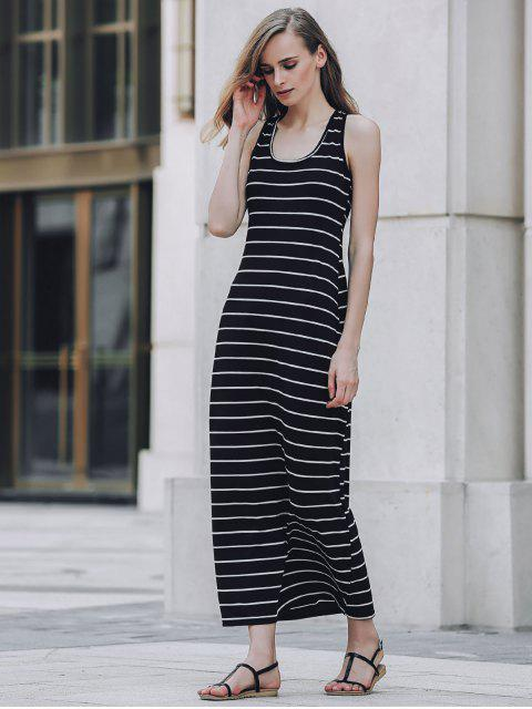outfits Stripe Racerback U Neck Sundress - BLACK S Mobile
