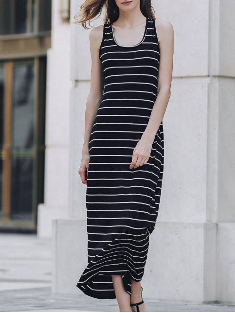 outfits Stripe Racerback U Neck Sundress - BLACK S Mobile