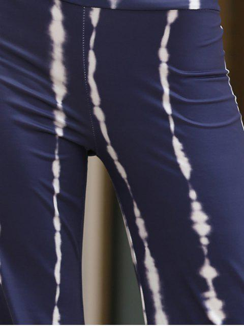 women's Striped Wide Leg Palazzo Pants - PURPLISH BLUE S Mobile