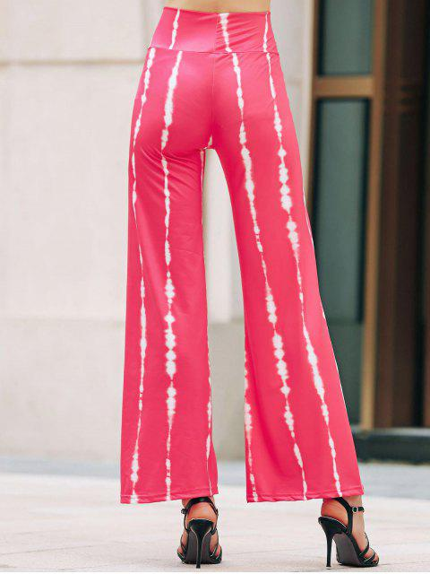 buy Striped Wide Leg Palazzo Pants - ROSE M Mobile