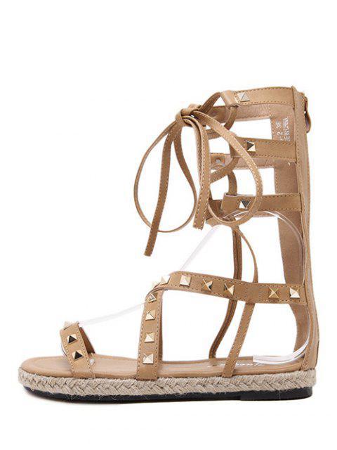 sale Flat Heel High Top and Rivet Sandals -   Mobile