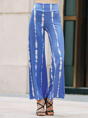 Striped Wide Leg Palazzo Pants - Sapphire Blue Xl