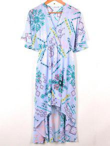 فستان مختلط الشيفون - الضوء الأزرق S