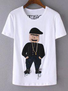 Patched T-Shirt - White L