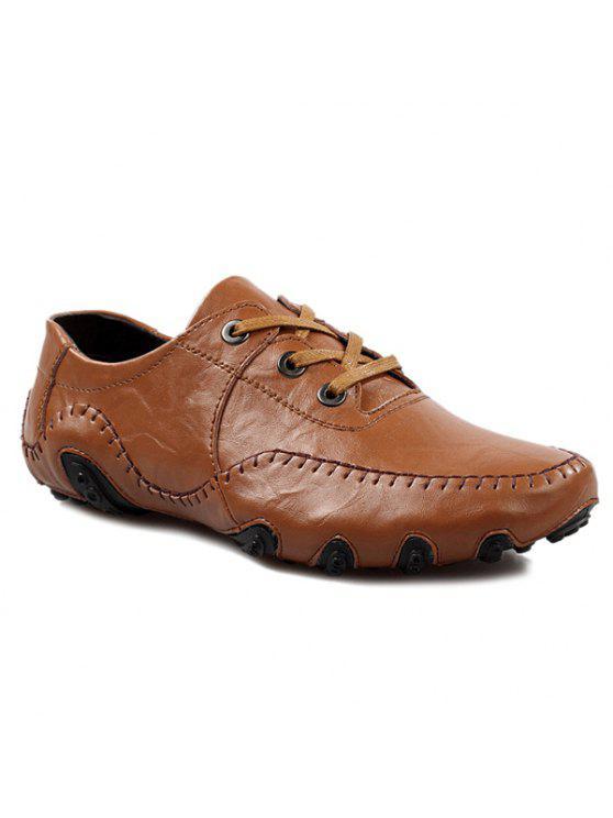 المألوف خياطة و الدانتيل متابعة تصميم أحذية عادية للرجال - BROWN 42