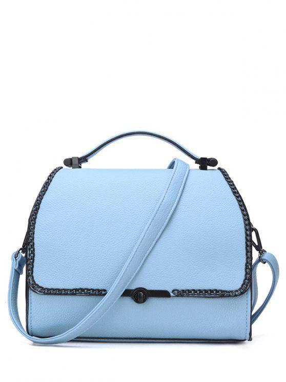 HASP cadenas bolsa de asas color sólido - Azul
