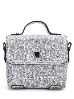 PU Leather Stitching Cover Crossbody Bag - White And Black