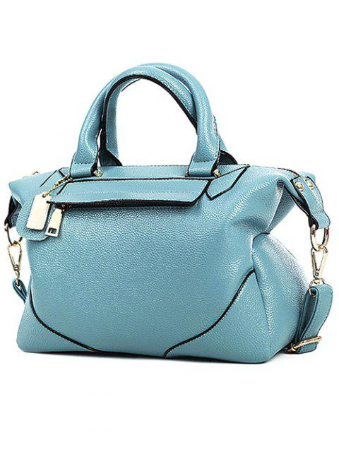 shops PU Leather Solid Colour Tote Bag -   Mobile