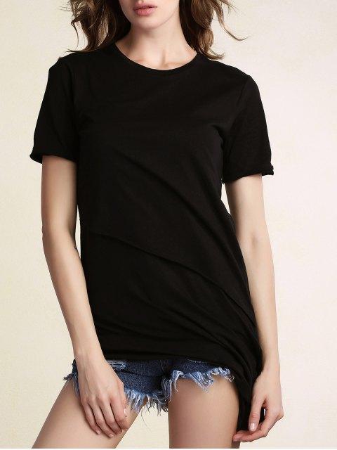 new Asymmetrical Black T-Shirt - BLACK M Mobile