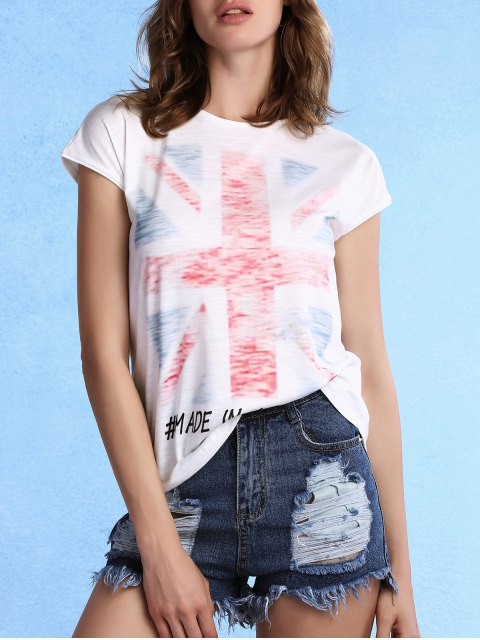 best White Union Jack T-Shirt - WHITE XL Mobile