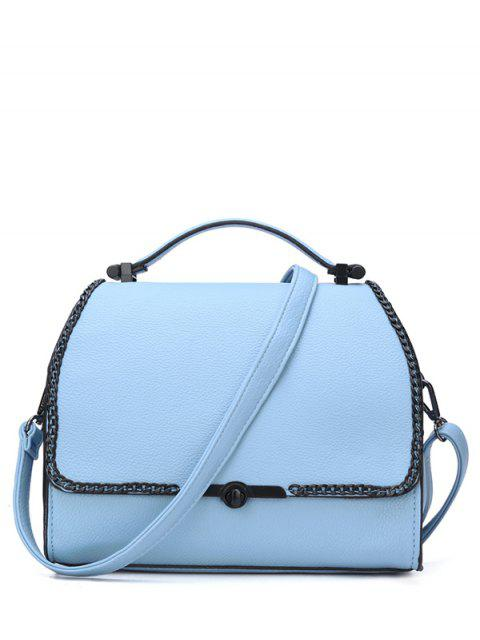 fancy Chains Hasp Solid Color Tote Bag -   Mobile