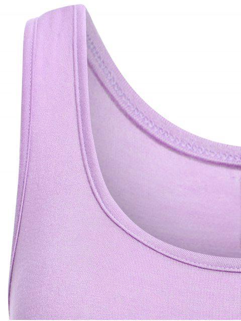 buy Irregular Hem Scoop Neck Sundress - PURPLE S Mobile