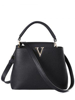 Letter V Solid Color Tote Bag