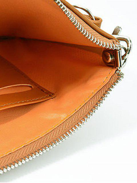 new Zip Solid Color PU Leather Coin Purse -   Mobile