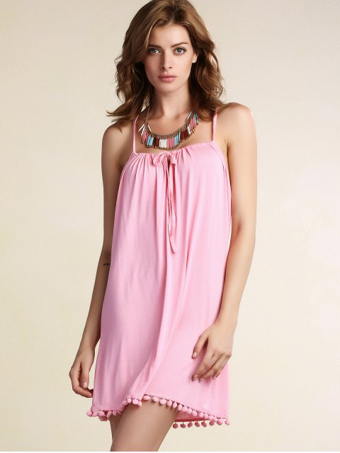 buy Crochet Splice Cami Dress - PINK XL Mobile