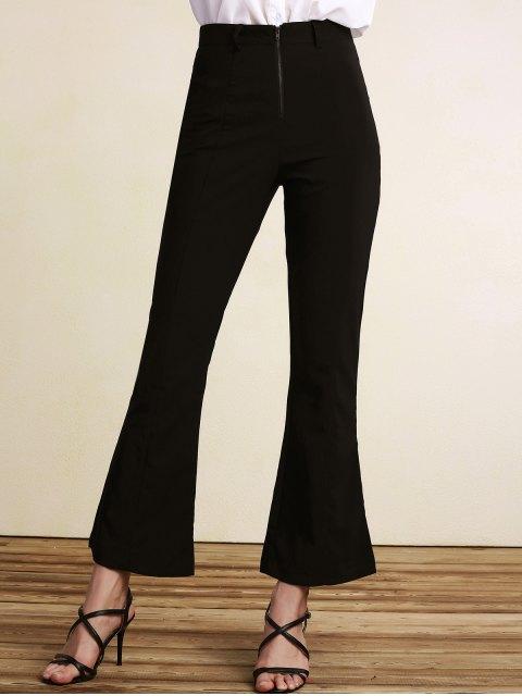 Pantalon noir taille haute Boot Cut - Noir 2XL Mobile