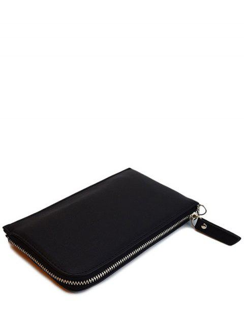 online Zip Solid Color PU Leather Coin Purse -   Mobile