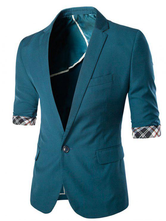 Adelgazar de tres cuartos de la manga del color sólido de la chaqueta para  los hombres