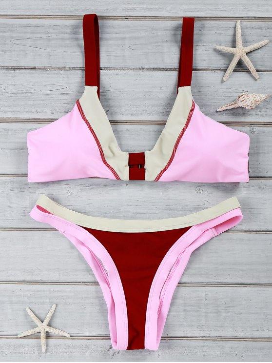 Color Chic Bikini U Block Swimwear Neck Suit dChrxtsQ