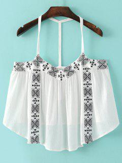 Tank Top Cami Broderie - Blanc M