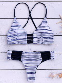 Streifen Cami Bikini Set - Streifen  L