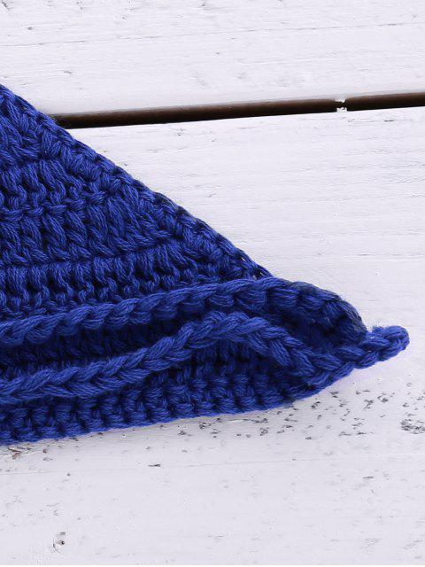 chic Halter Neck Crochet Bikini Top - BLUE ONE SIZE(FIT SIZE XS TO M) Mobile