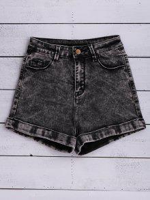Lavar La Nieve Pantalones Cortos De Mezclilla - Negro 24