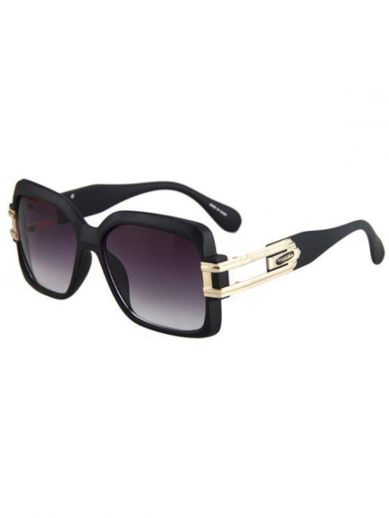 Huecas mate de la aleación negro gafas de sol - Morado Oscuro