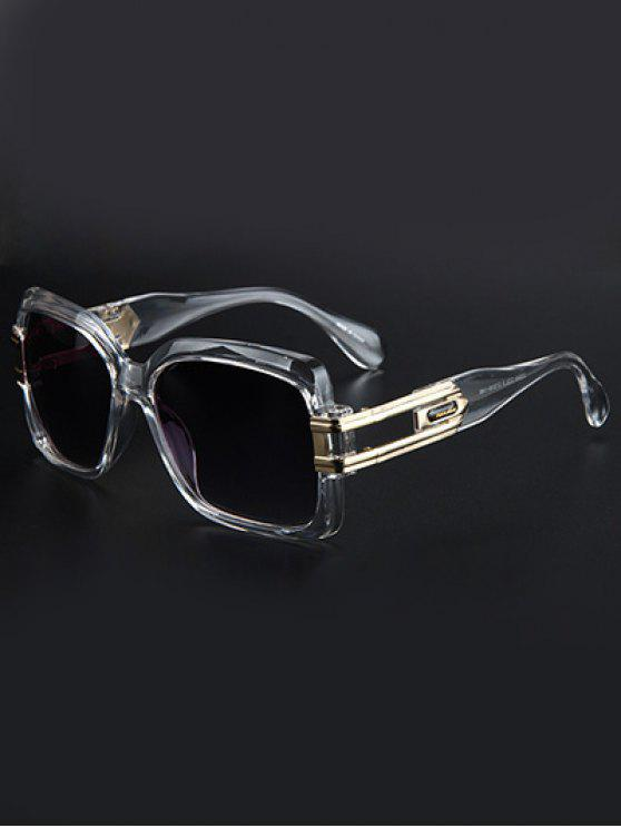 outfit Hollow Alloy Modern Quadrate Sunglasses - TRANSPARENT