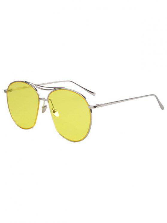shops Irregular Frame Sunglasses - YELLOW