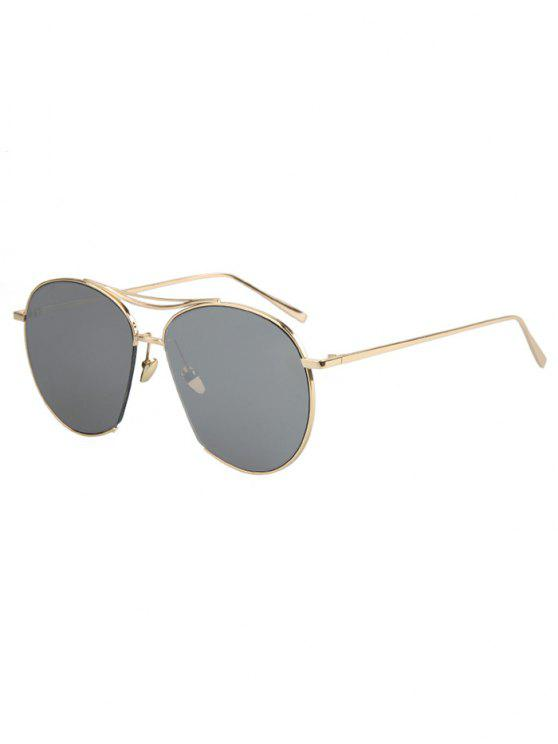 latest Irregular Frame Sunglasses - SILVER GRAY