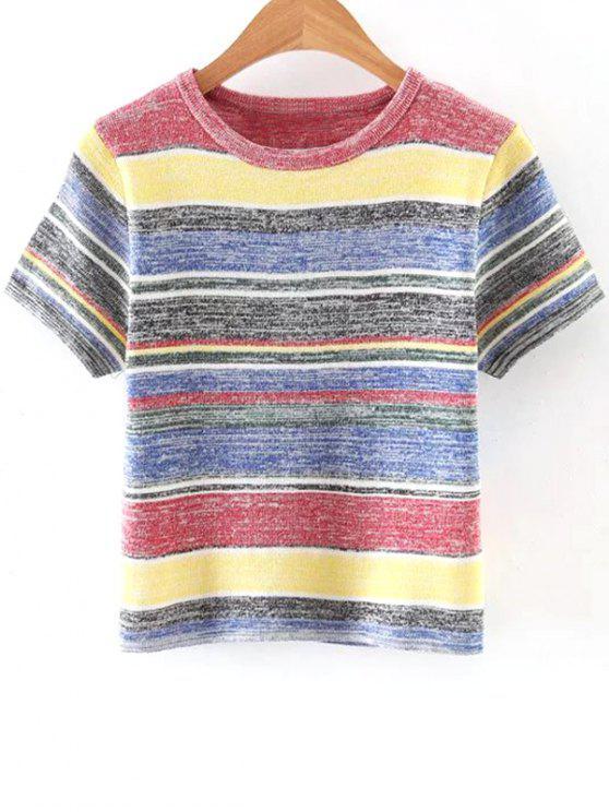 Punto acanalado de la camiseta - Colormix Un tamaño(Montar tam