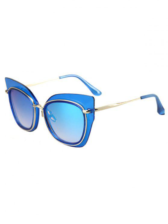 online Alloy Match Cat Eye Frame Sunglasses - BLUE