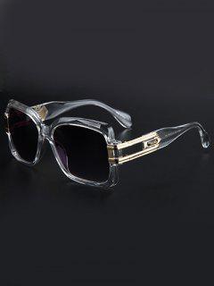 Huecas De Aleación: Cuadrado Modernas Gafas De Sol - Transparente