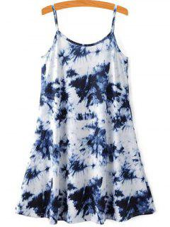 Tie-Dyed Cami Dress - Blue And White Xl