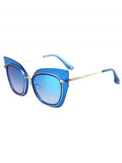 Alloy Match Cat Eye Frame Sunglasses - Blue