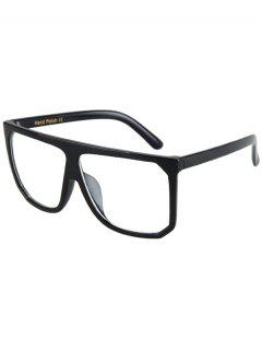 Big Quadrate Frame Black Sunglasses - Transparent